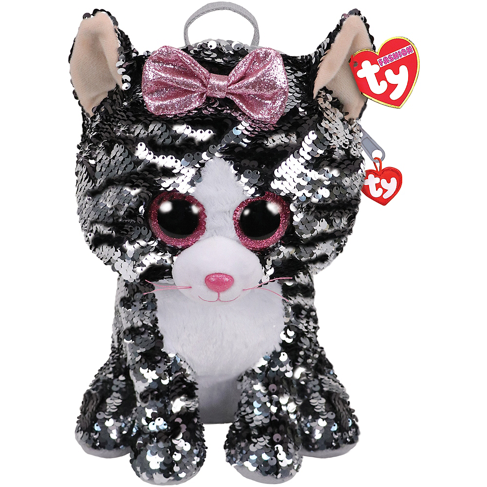 Kiki TY Fashion Flip Sequin Cat Backpack Image #1