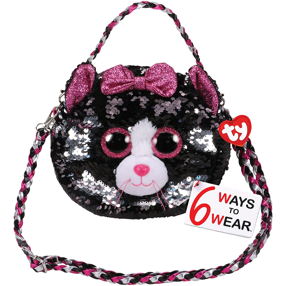 Kiki TY Fashion Flip Sequin Cat Purse Image #1