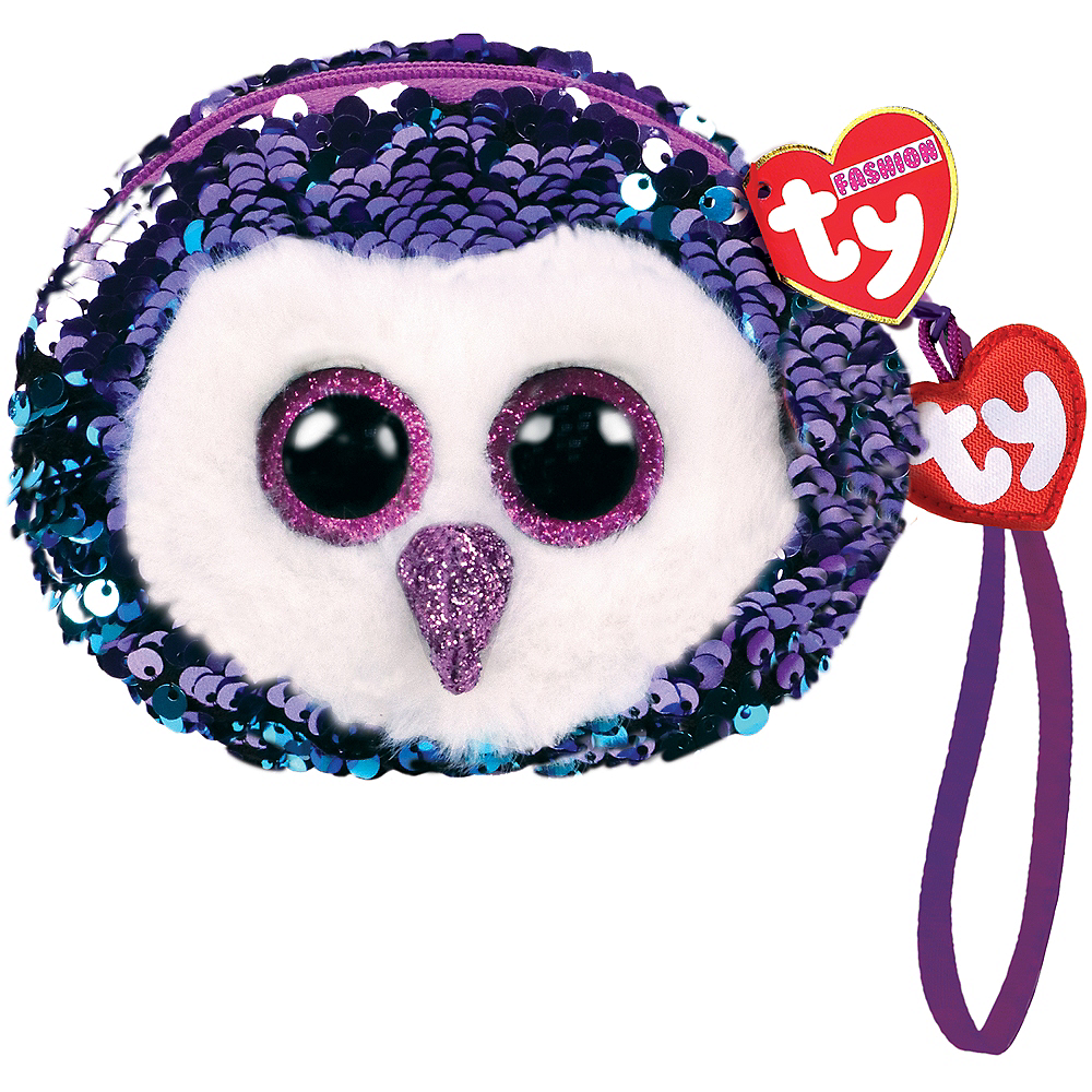 Moonlight TY Fashion Flip Sequin Owl Wristlet Image #1