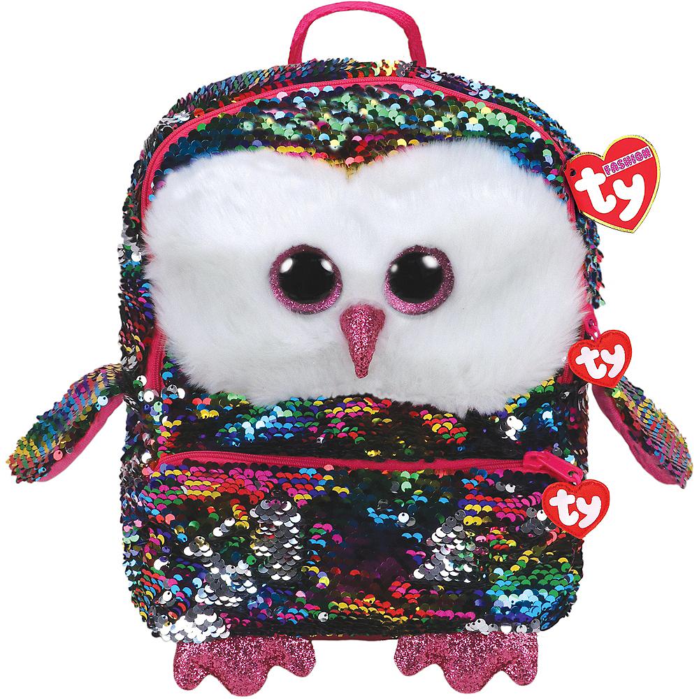 Owen TY Fashion Flip Sequin Owl Backpack Image #1