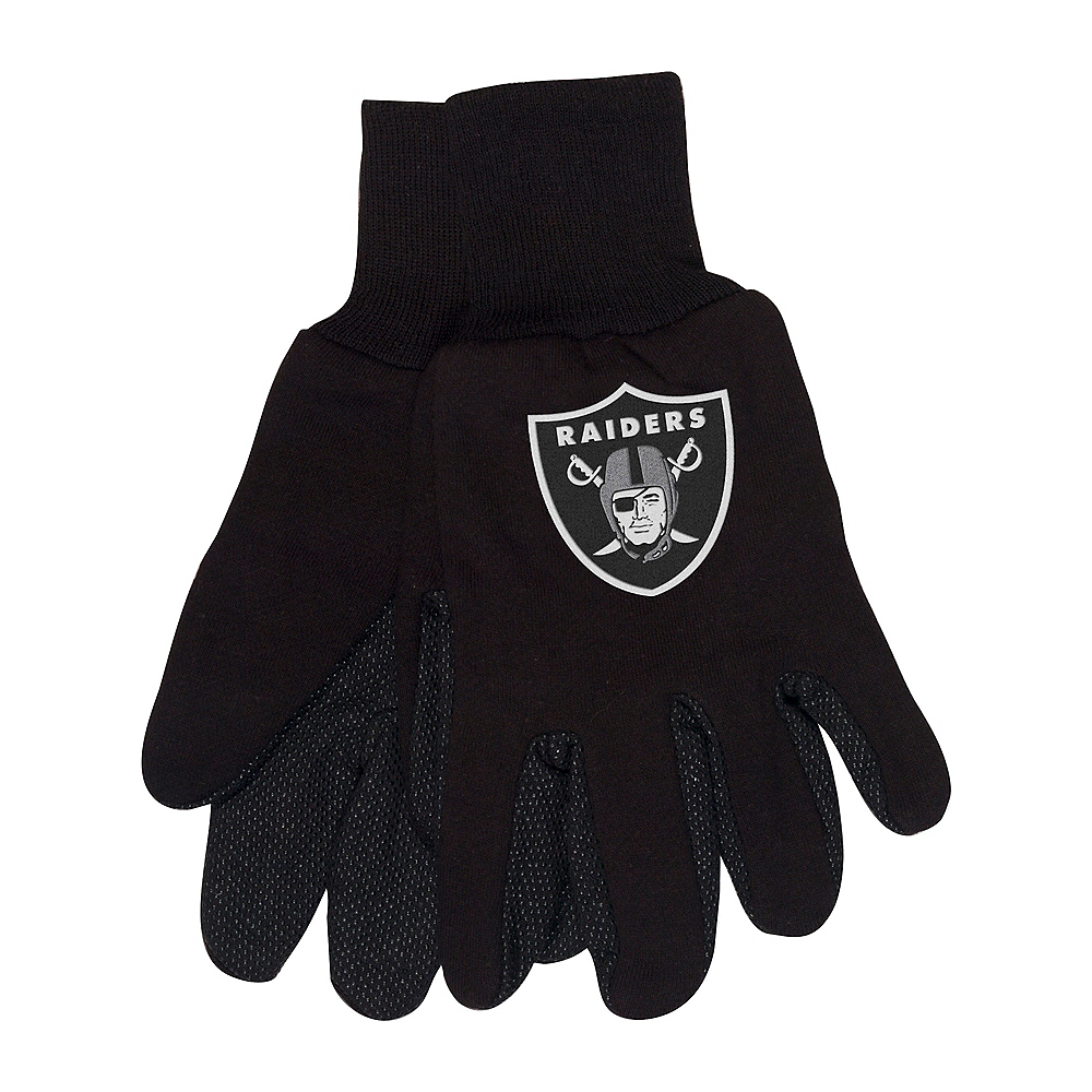 Oakland Raiders Gloves Image #1