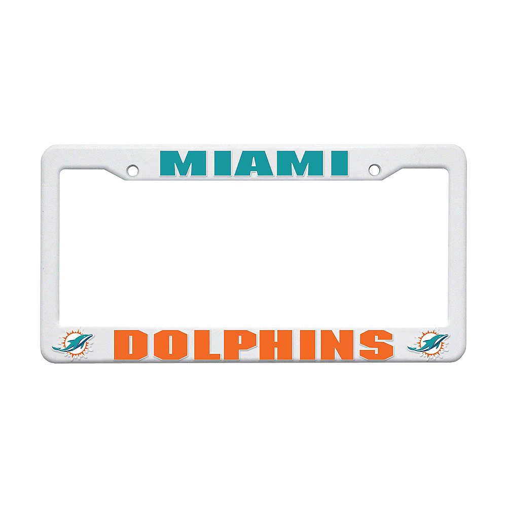 Miami Dolphins License Plate Frame Image #1