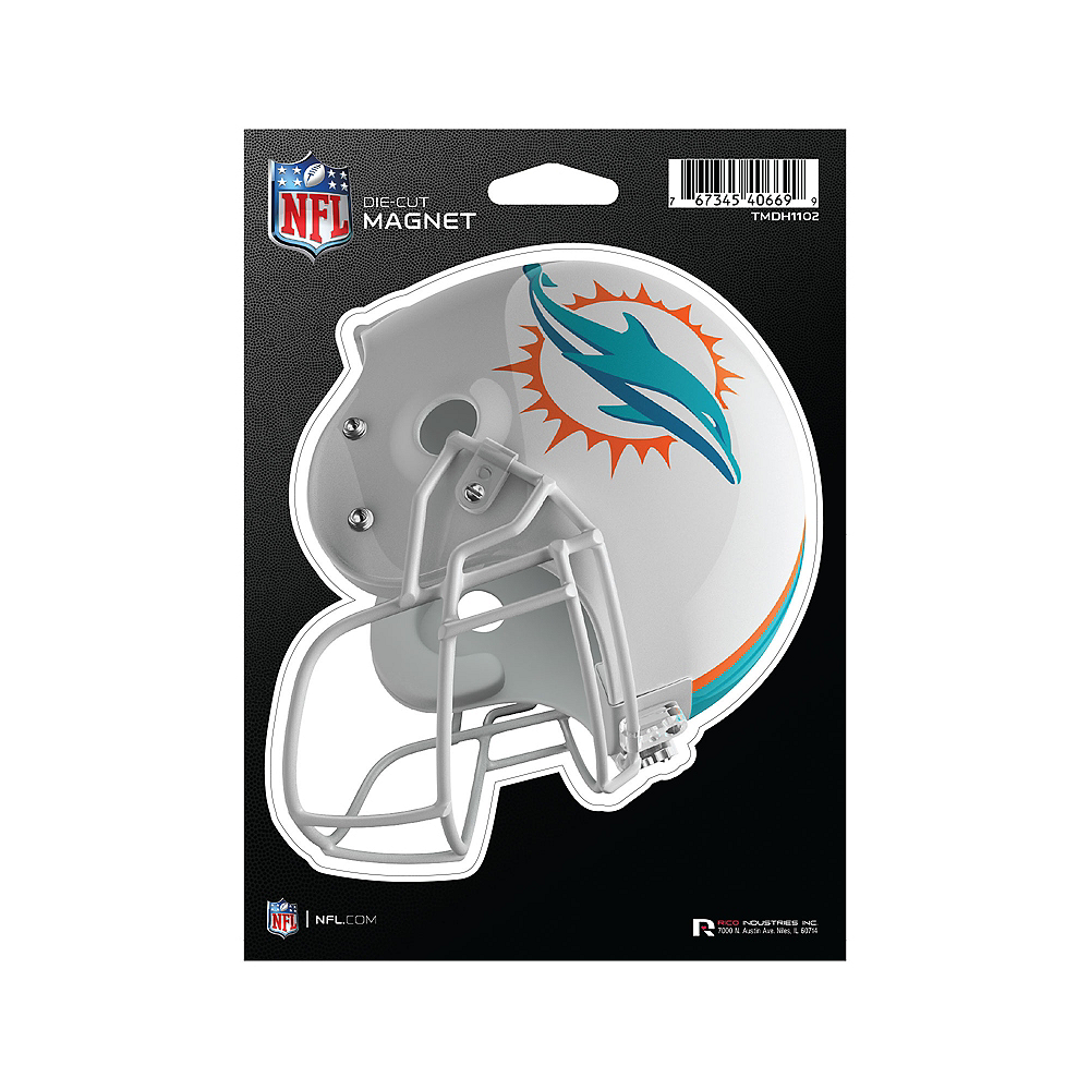 Nav Item for Miami Dolphins Die-Cut Magnet Image #1