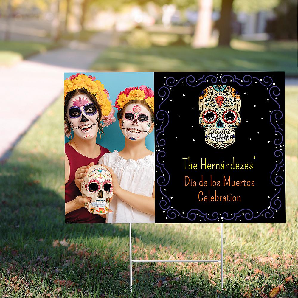 Custom Sugar Skull Photo Yard Sign Image #1