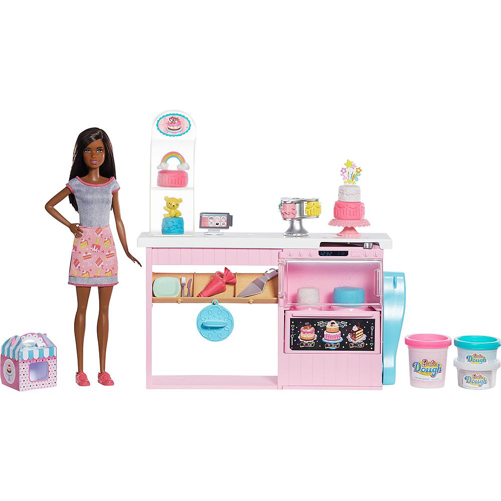 Brunette Barbie Cake Decorating Playset Image #1
