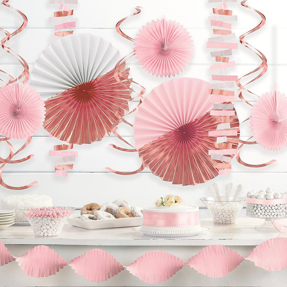 Pink& Metallic Rose Gold Decorating Kit, 14pc Image #1