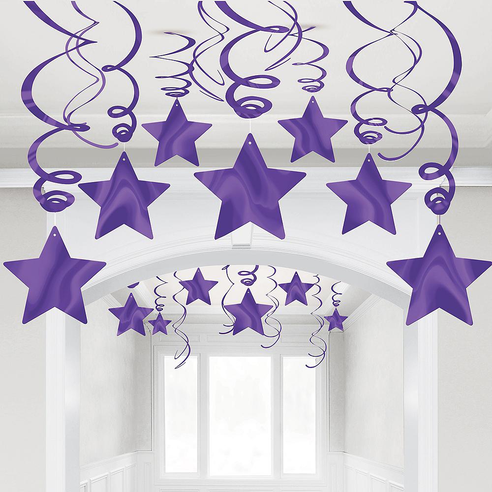 Purple Star Swirl Decorations, 30ct Image #1