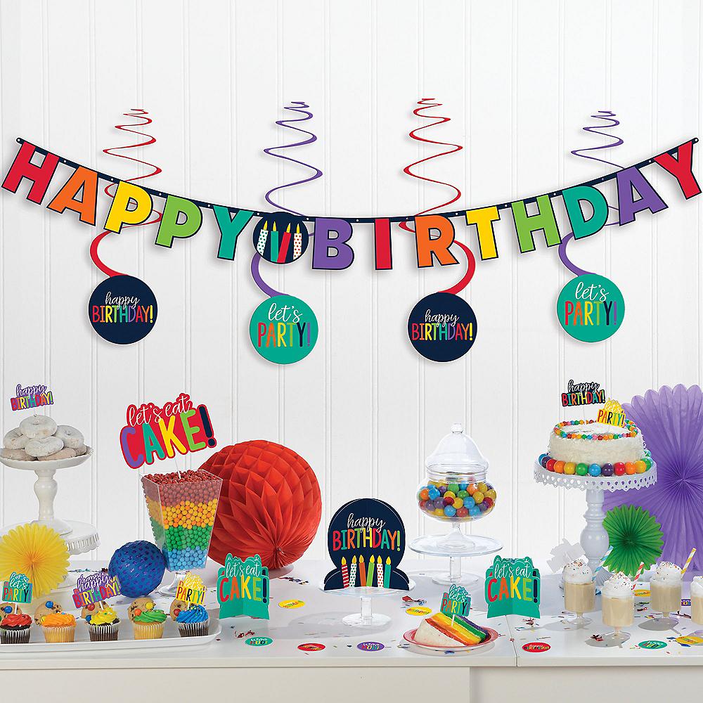Navy & Rainbow Birthday Decorating Kit 37pc Image #1
