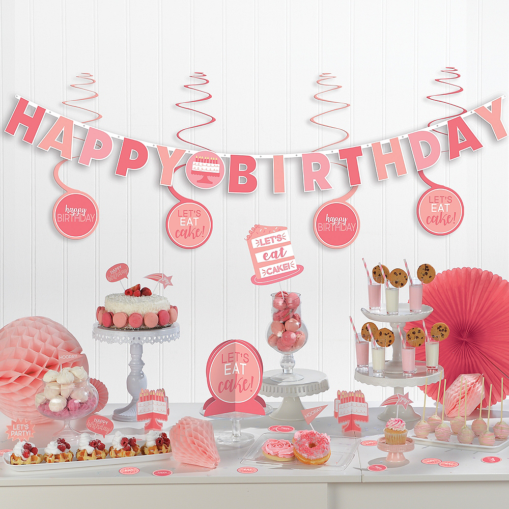 Shades of Pink Birthday Decorating Kit 37pc Image #1