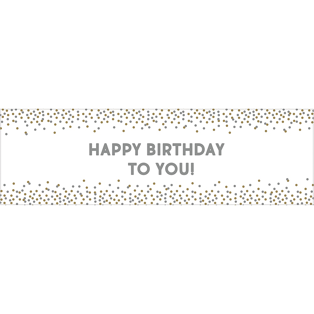 Customizable Gold & Silver Confetti Dot Banner Image #1