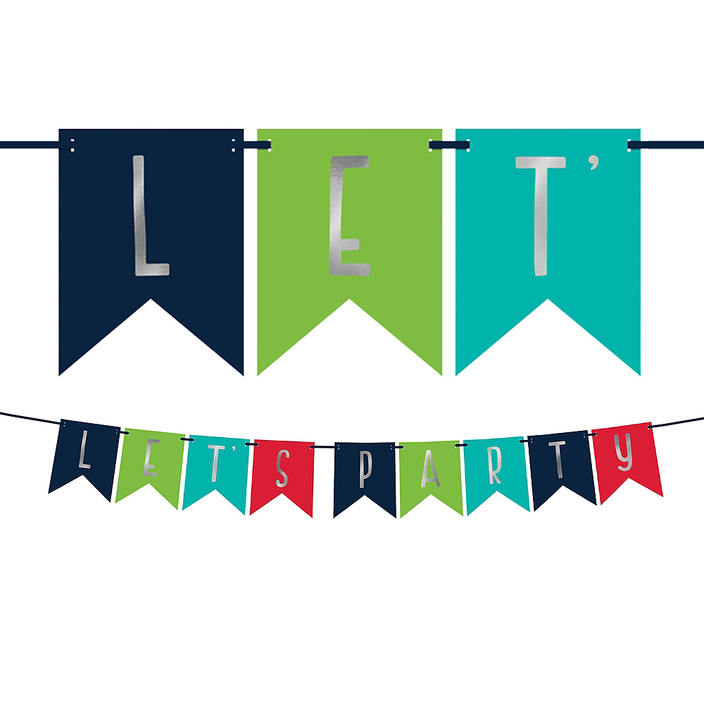 A Reason to Celebrate Let's Party Pennant Banner Image #1