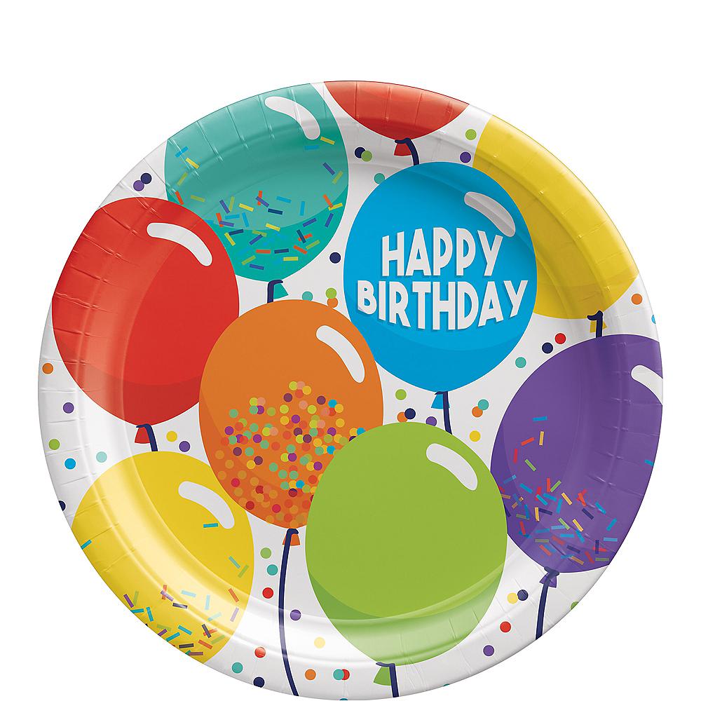 Balloon Birthday Celebration Dessert Plates, 7in, 60ct Image #1