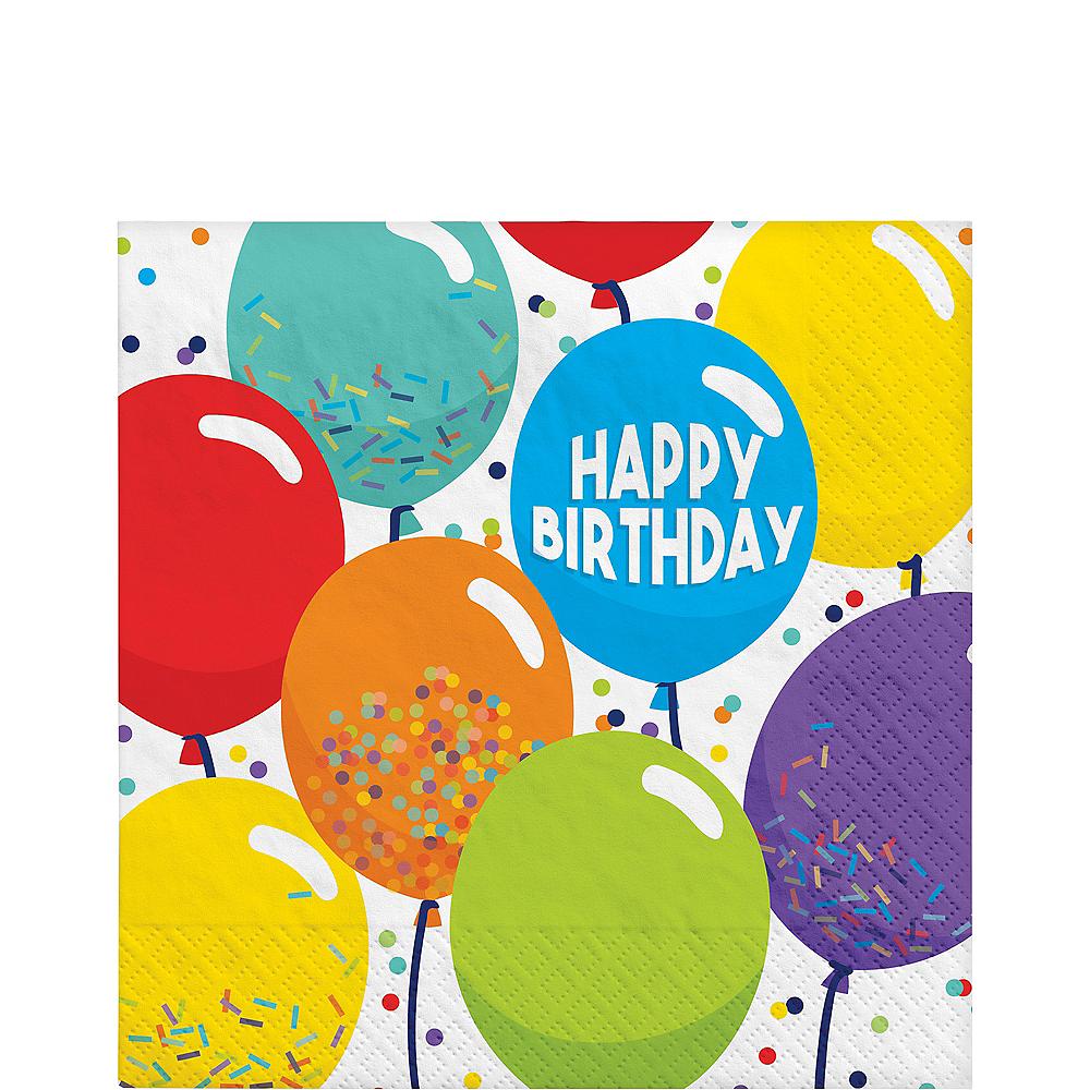 Balloon Birthday Celebration Lunch Napkins 125ct Image #1