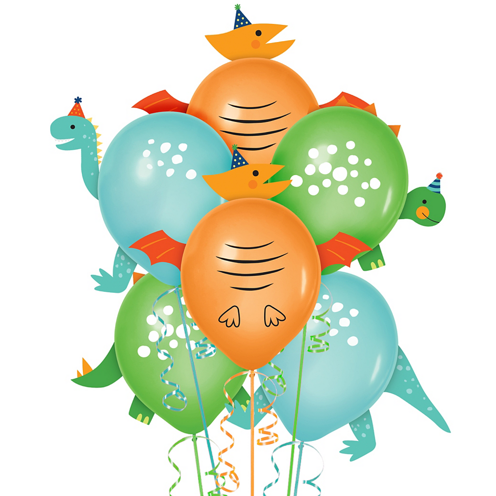 Dino-Mite Balloon Decorating Kit 6ct Image #1