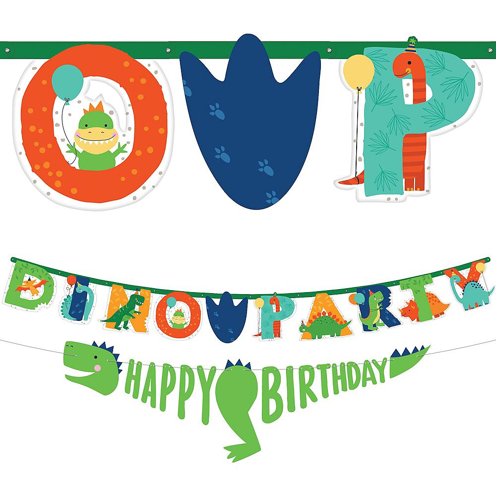 Dino-Mite Personalized Birthday Banner Kit 2ct Image #1
