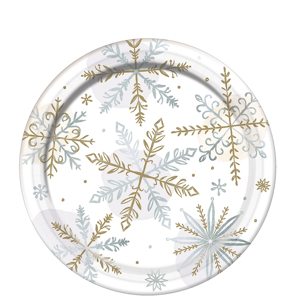 Nav Item for Metallic Sparkling Snowflake Tableware Kit for 56 Guests Image #2