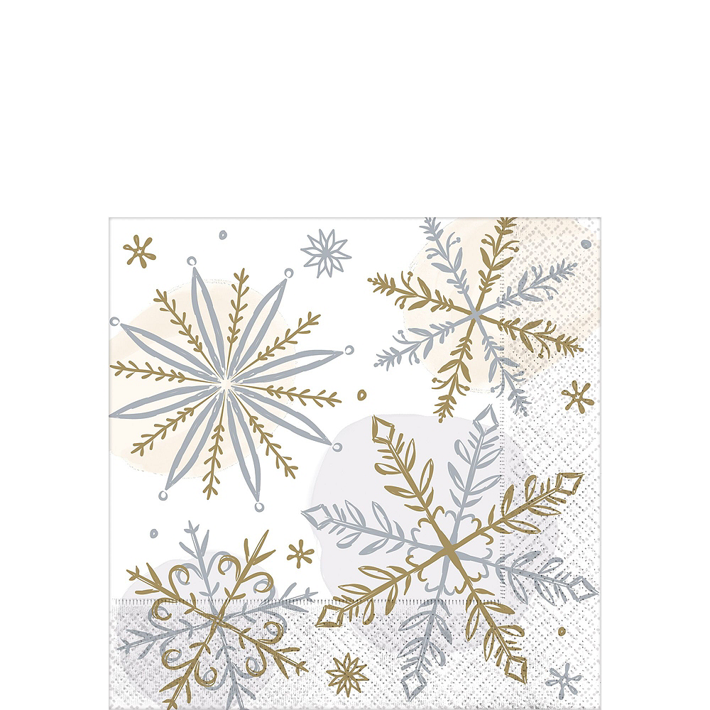 Nav Item for Metallic Sparkling Snowflake Tableware Kit for 56 Guests Image #4