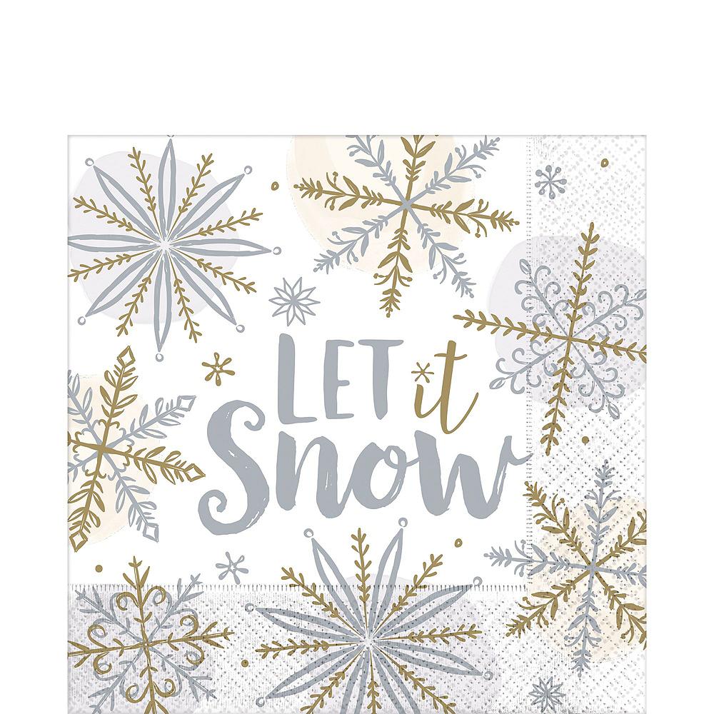 Metallic Sparkling Snowflake Tableware Kit for 56 Guests Image #5