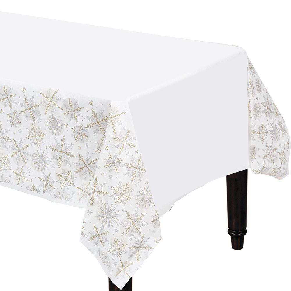 Metallic Sparkling Snowflake Tableware Kit for 56 Guests Image #7