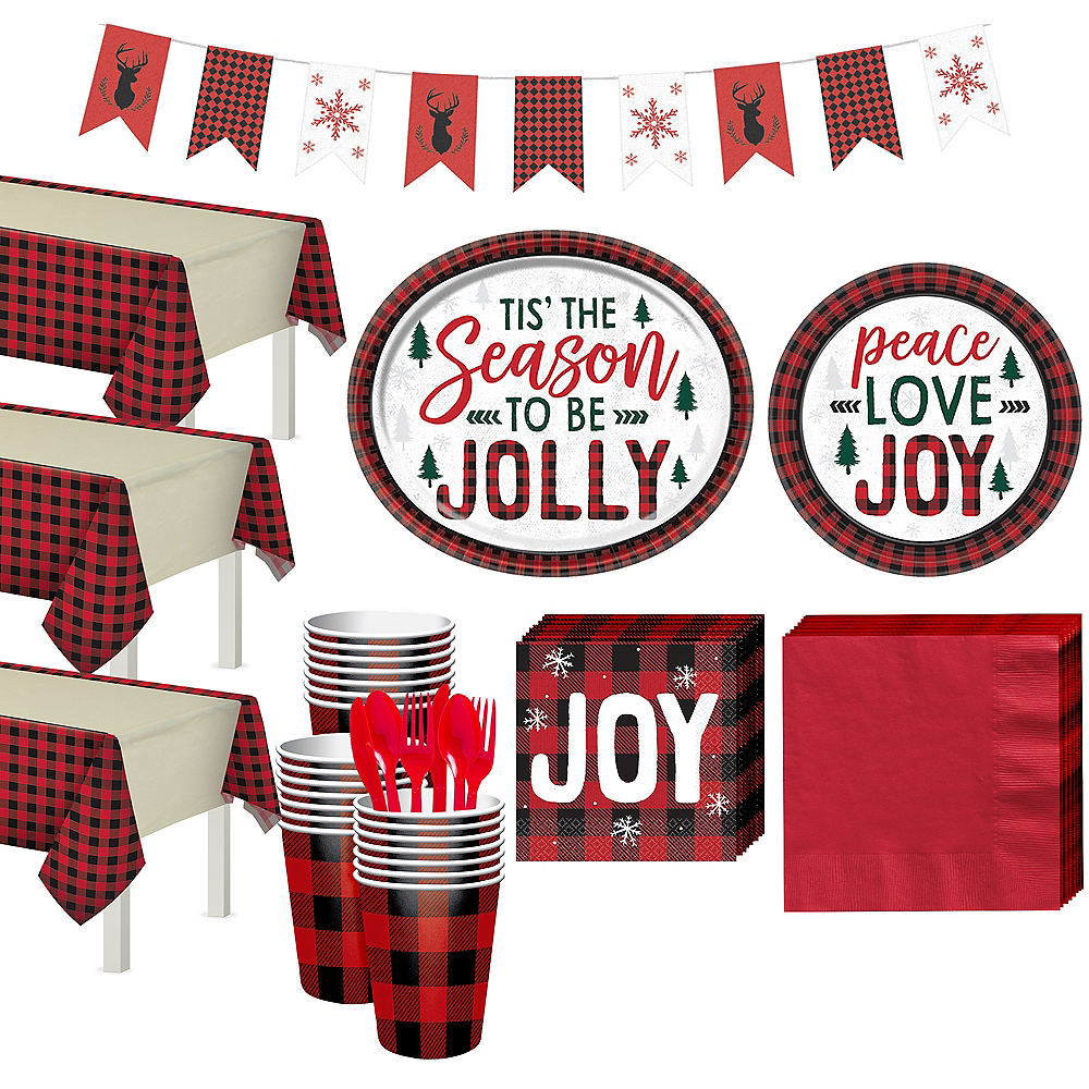 Cozy Holiday Tableware Kit for 56 Guests Image #1