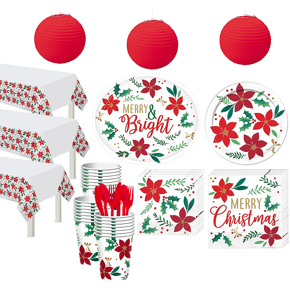 Holly Merry Christmas Tableware Kit for 56 Guests Image #1