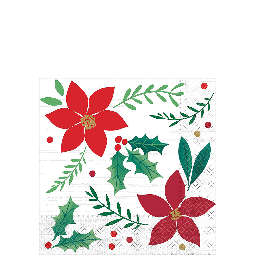 Holly Merry Christmas Tableware Kit for 56 Guests Image #4
