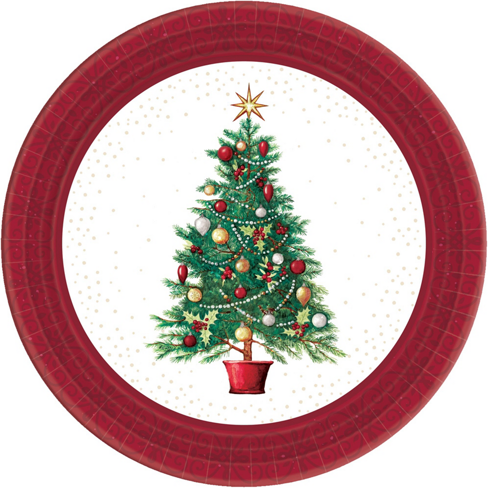 Oh Christmas Tree Tableware Kit for 100 Guests Image #3