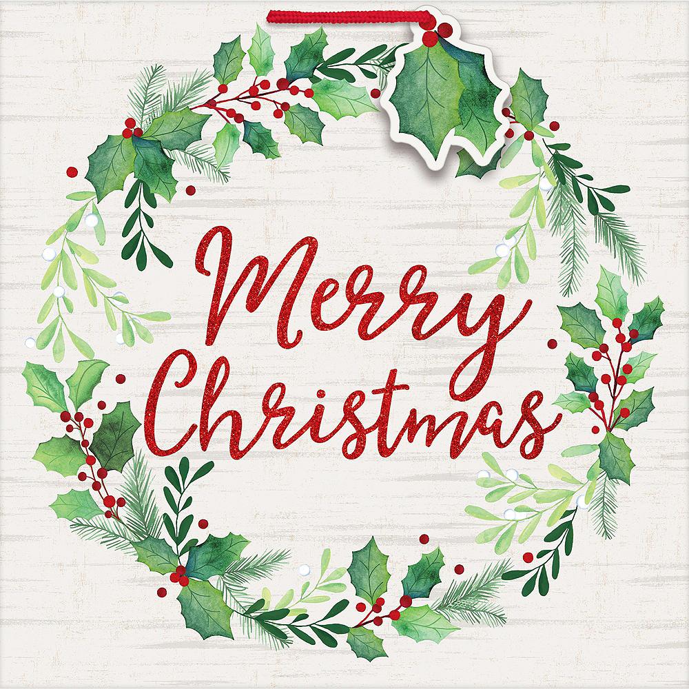 Merry Christmas Wreath Gift Wrap Kit Image #2