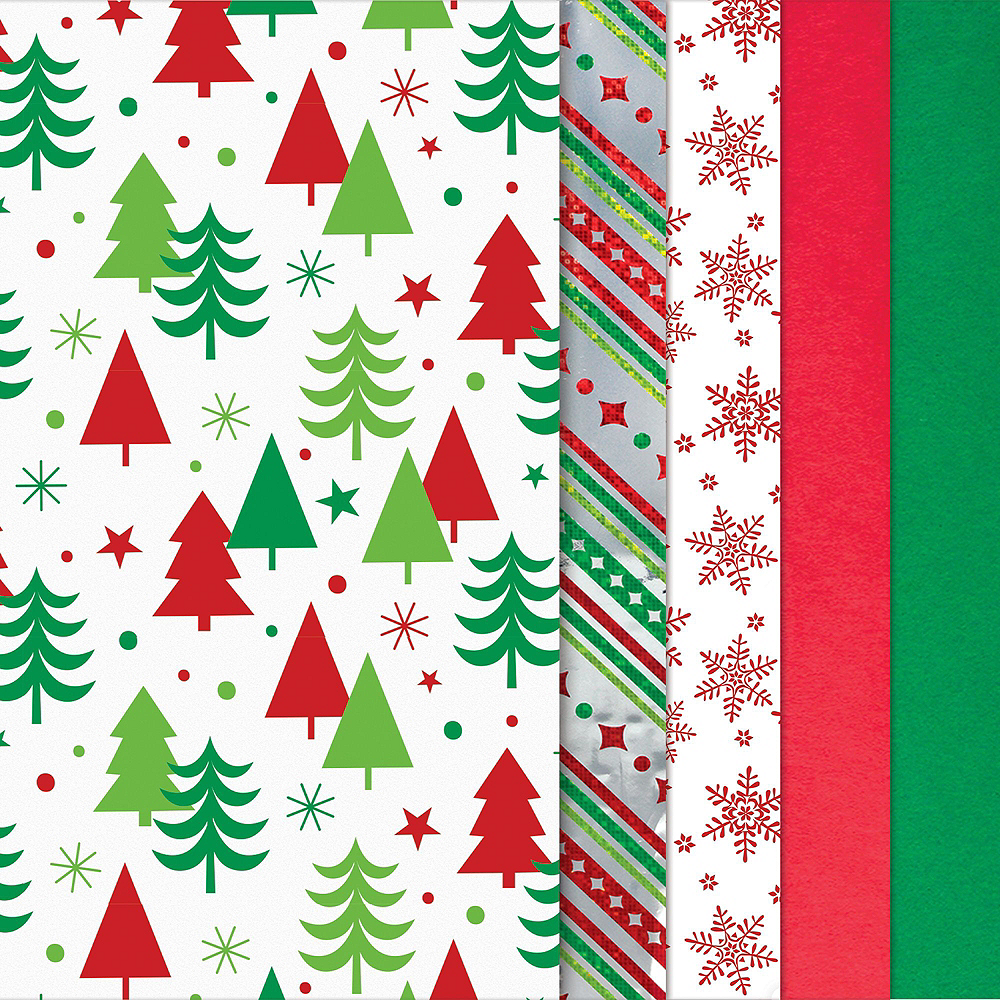 Merry Christmas Wreath Gift Wrap Kit Image #3