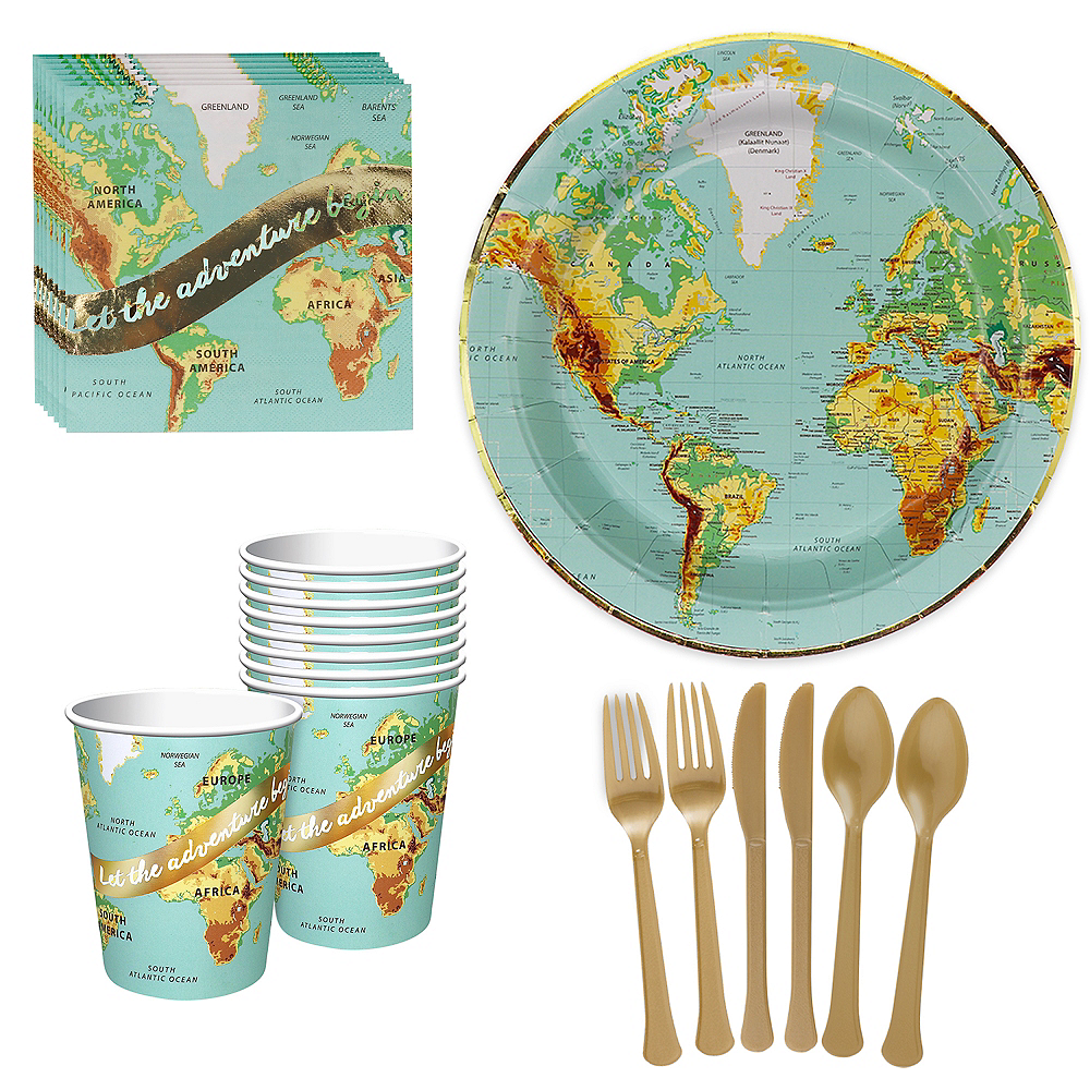 Bon Voyage Tableware Kit for 8 Guests Image #1