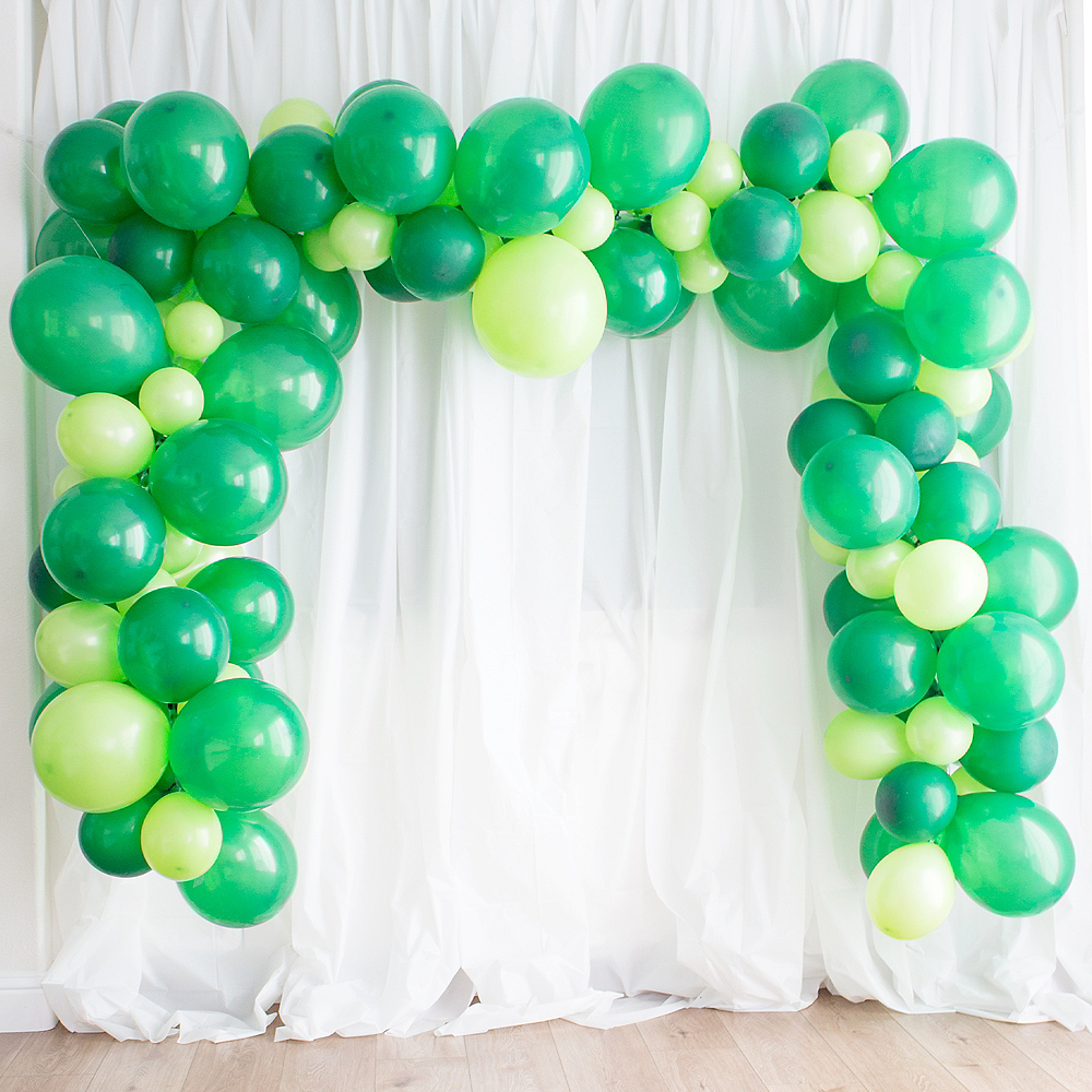 Festive Green & Kiwi Balloon Garland Kit Image #1