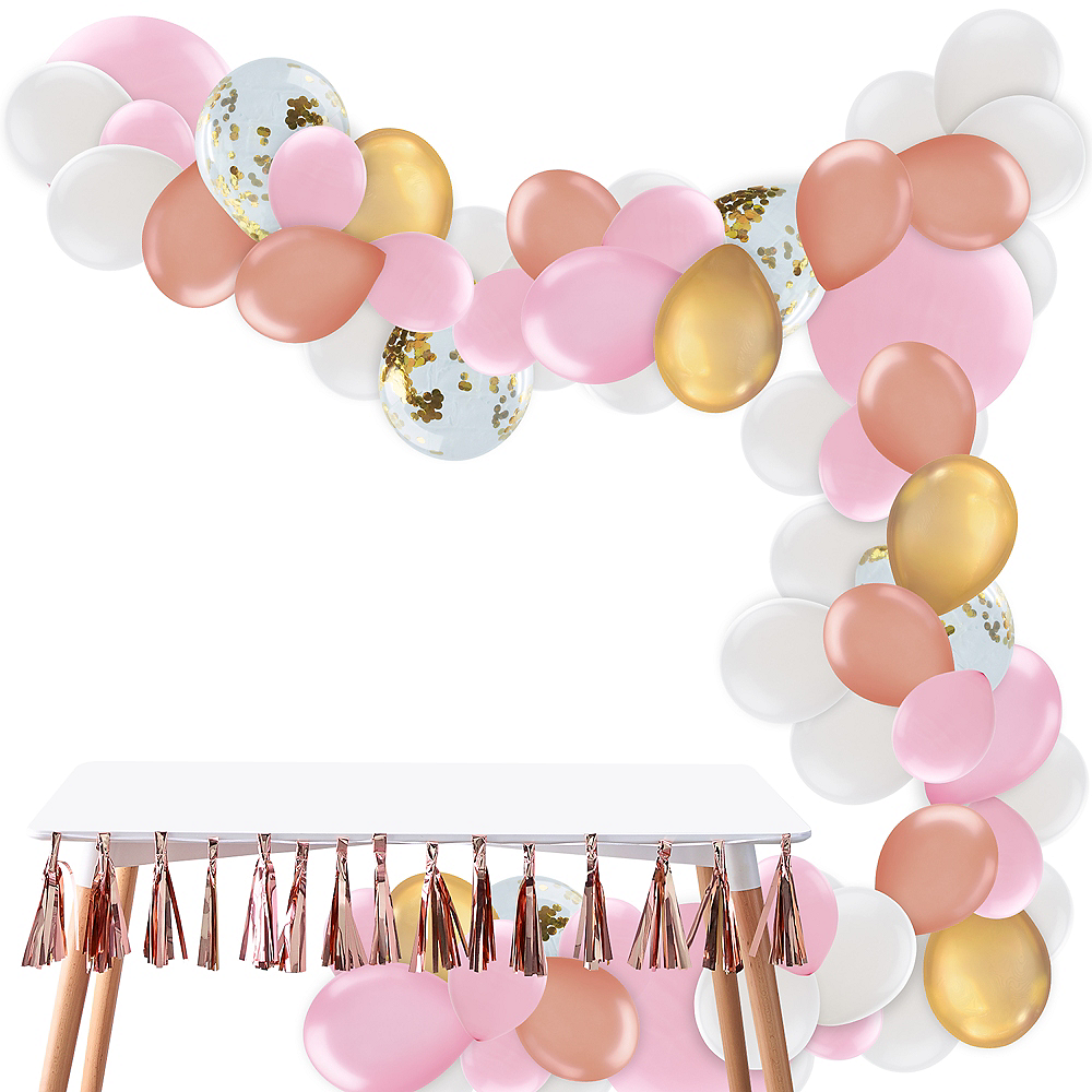 Nav Item for Gold & Pink Balloon Garland Kit Image #1