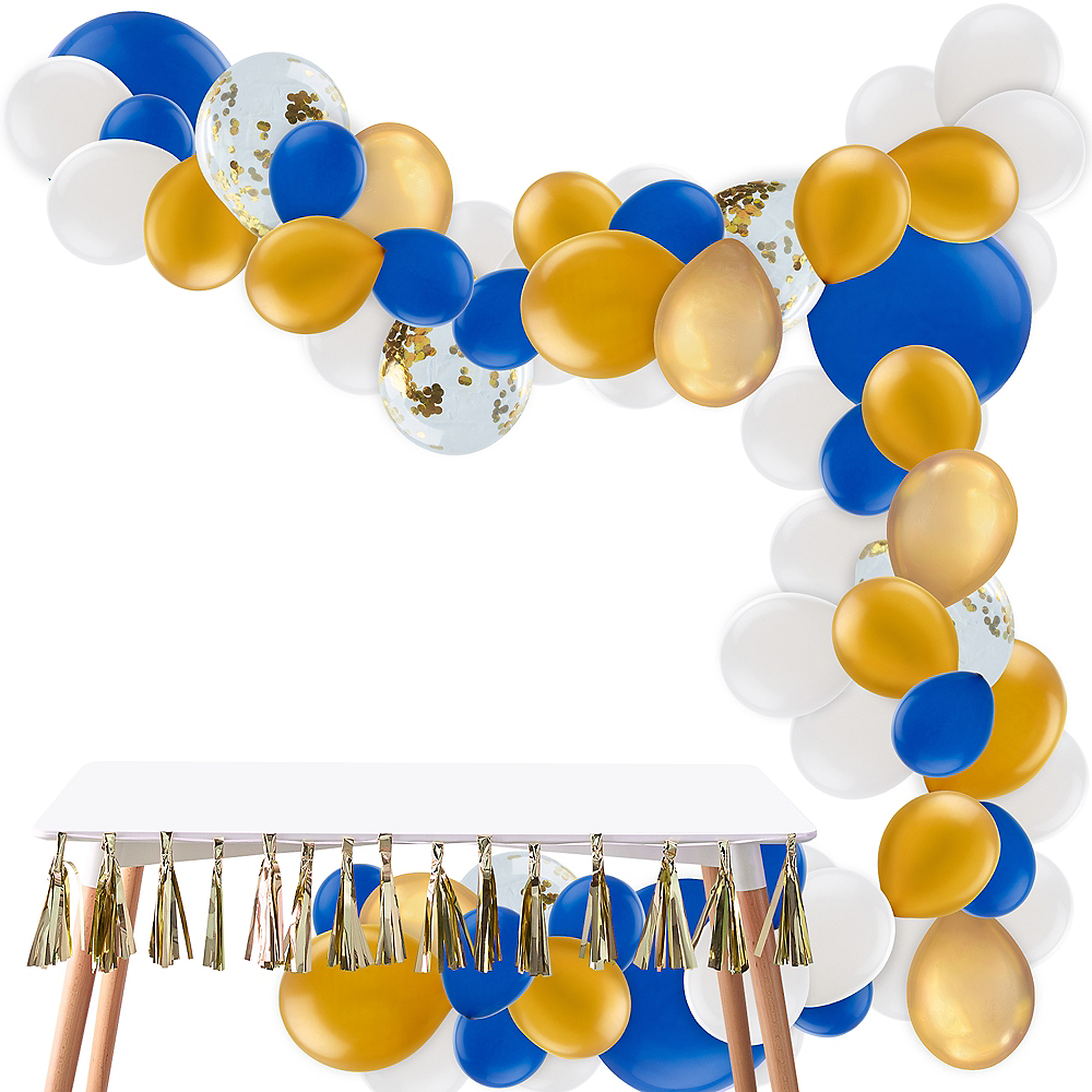 Nav Item for Air-Filled Blue & Gold Balloon Garland Kit Image #1