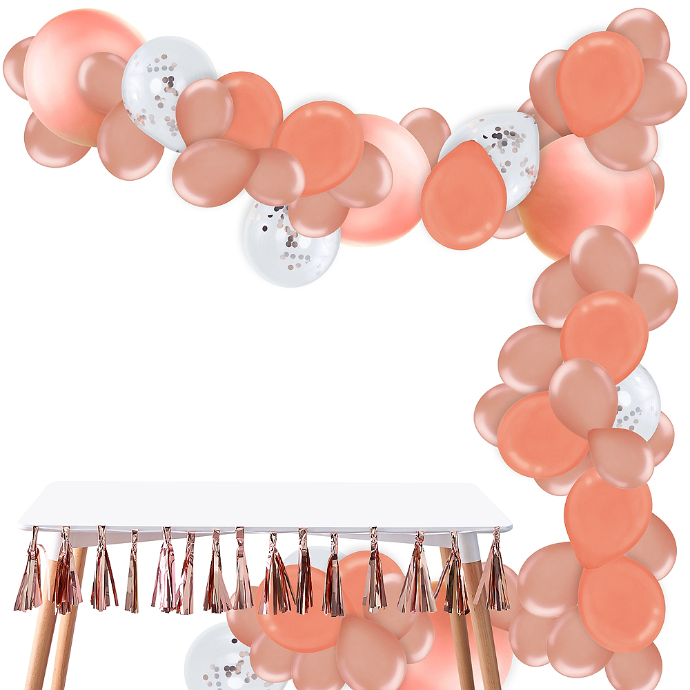 Rose Gold Balloon Garland Kit Image #1