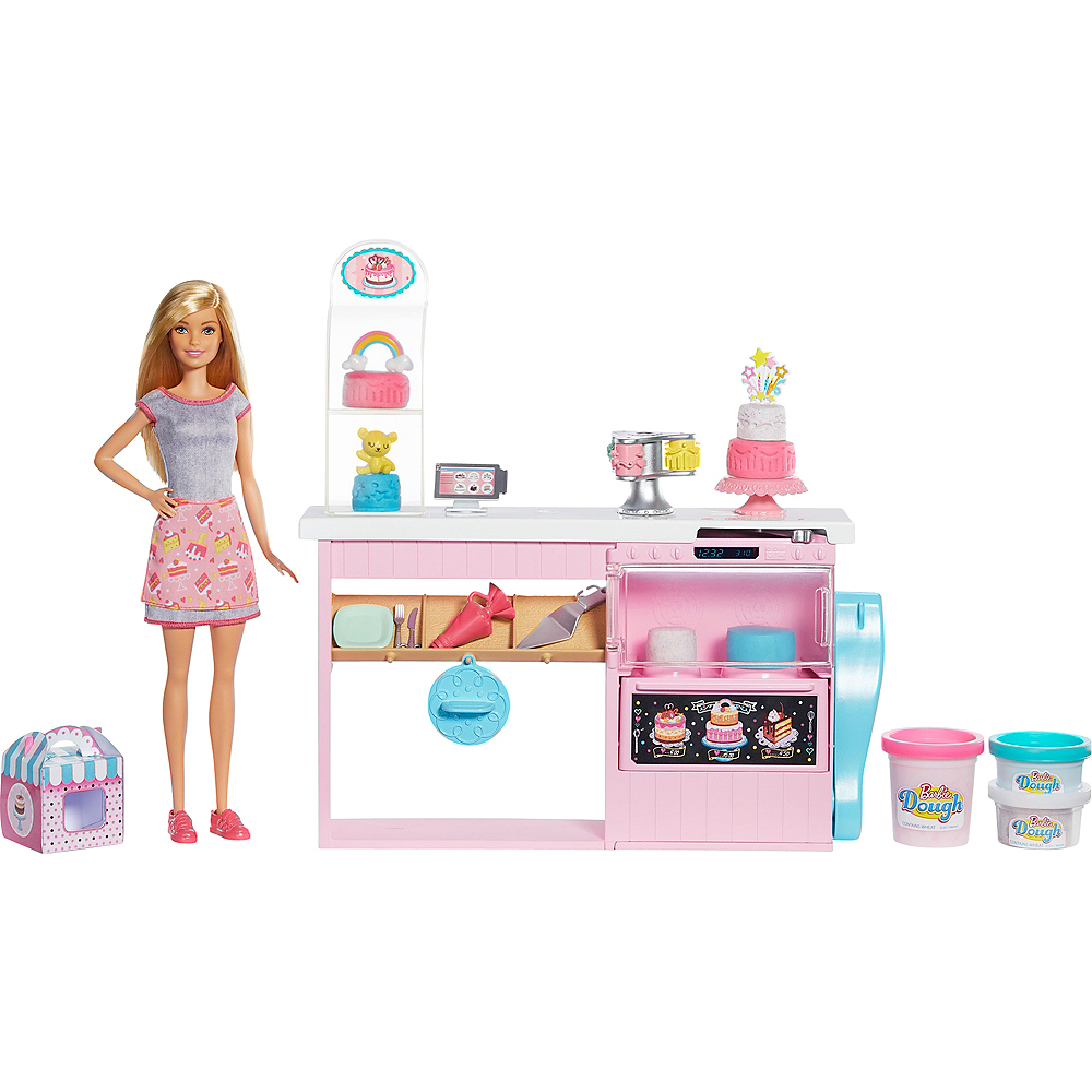 Blonde Barbie Cake Decorating Playset Image #1