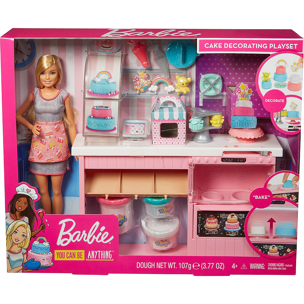 Blonde Barbie Cake Decorating Playset Image #2