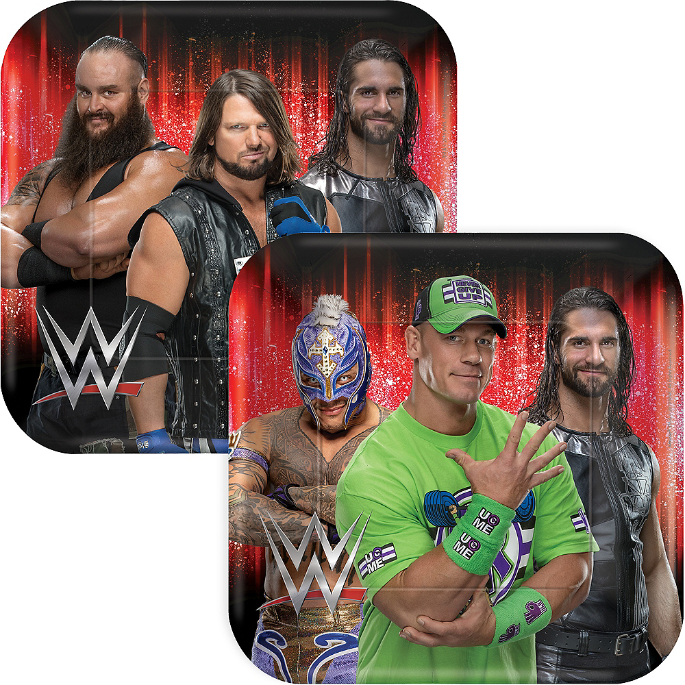 WWE Champion Lunch Plates 8ct Image #1