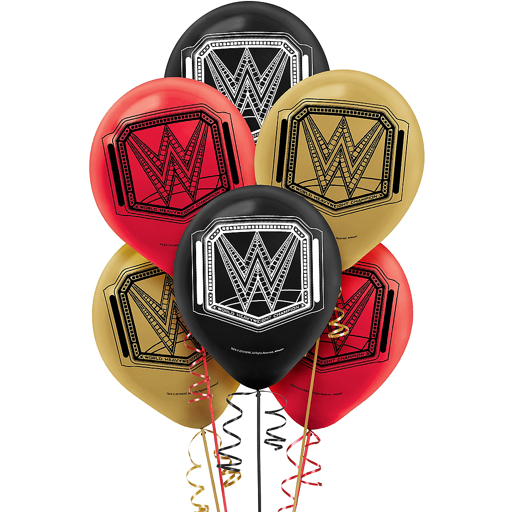 WWE Champion Latex Balloons 6ct Image #1