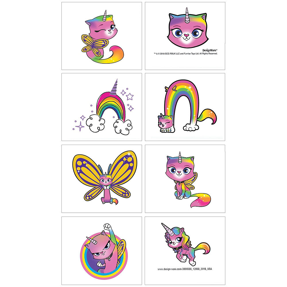 Rainbow Butterfly Unicorn Kitty Ultimate Party Favor Kit for 8 Guests Image #5
