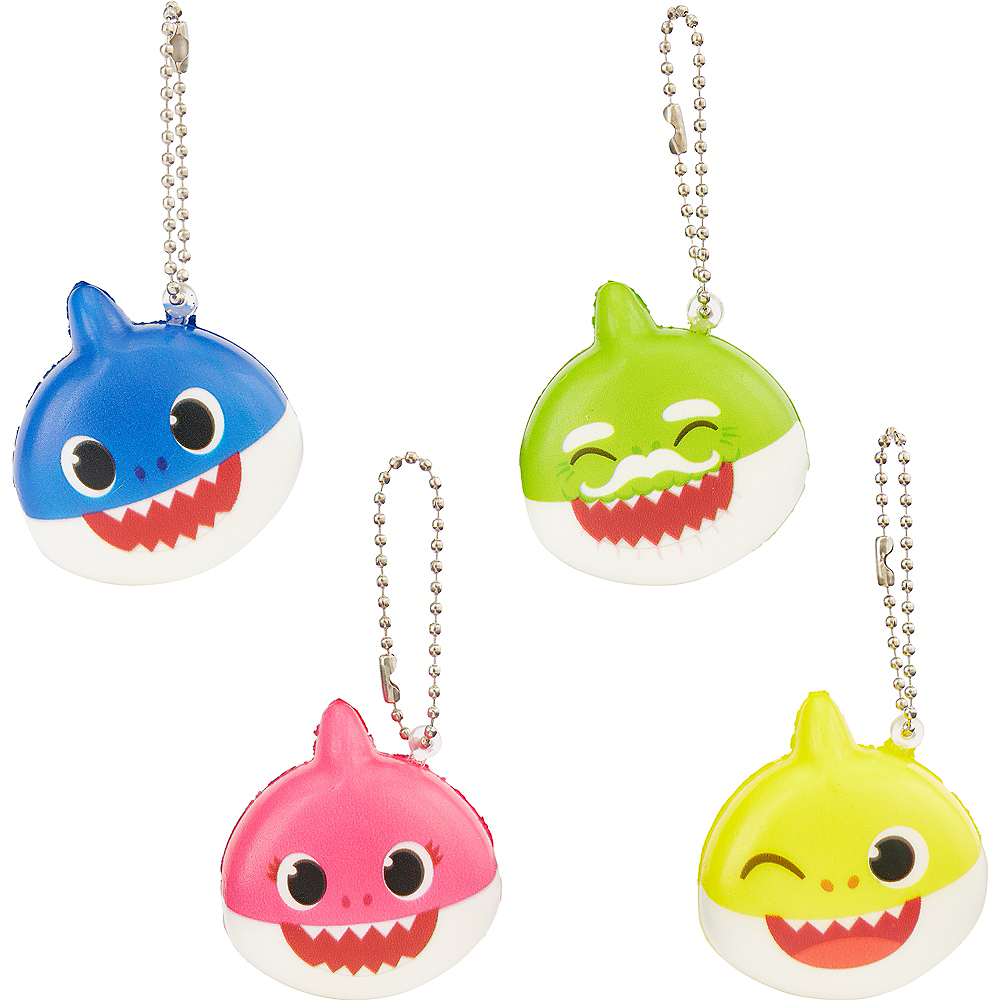 Nav Item for Baby Shark Squishy Keychains, 4ct Image #1
