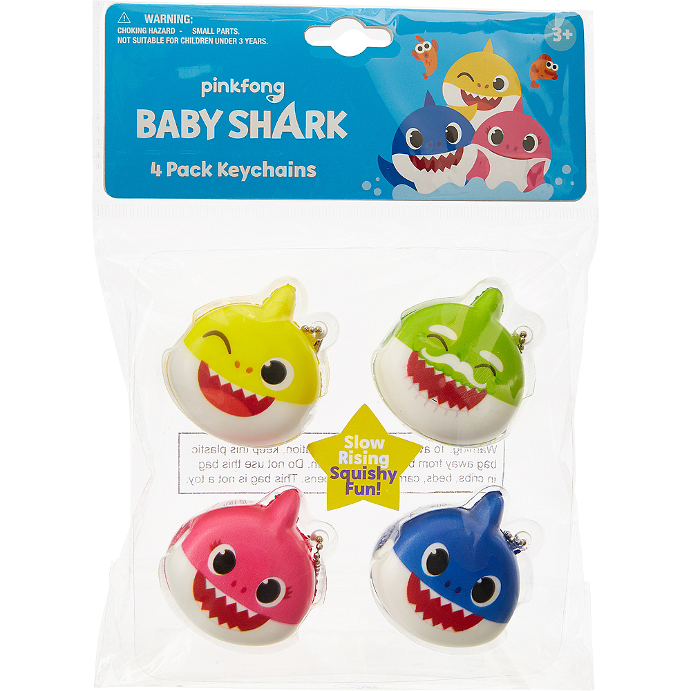 Nav Item for Baby Shark Squishy Keychains, 4ct Image #2
