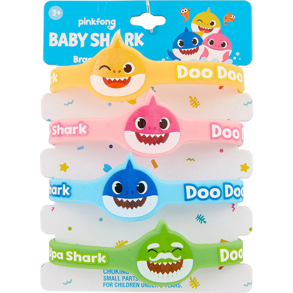 Baby Shark Rubber Bracelets, 4ct Image #2