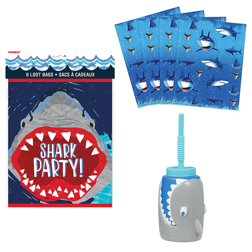 Nav Item for Shark Party Favor Kit for 8 Guests Image #1