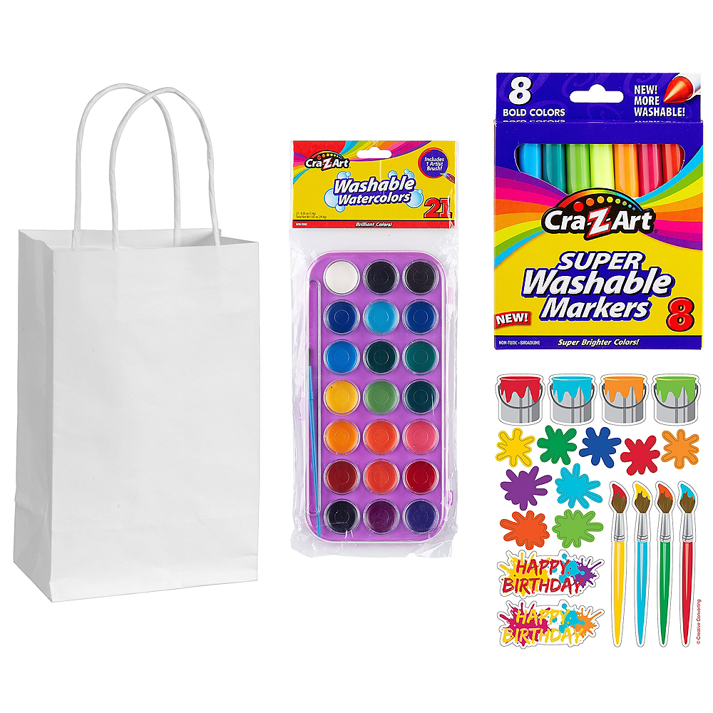 Art Party Favor Kit for 8 Guests Image #1