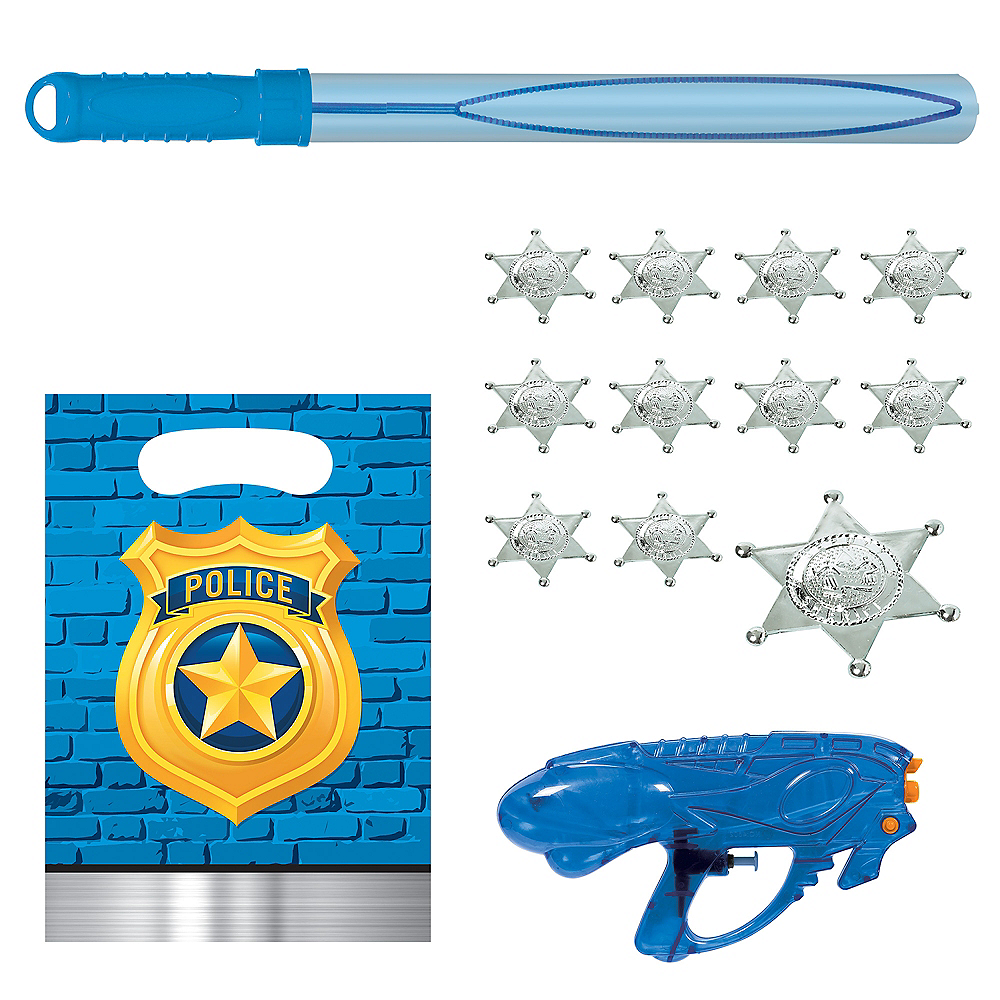 Police Party Favor Kit for 8 Guests Image #1