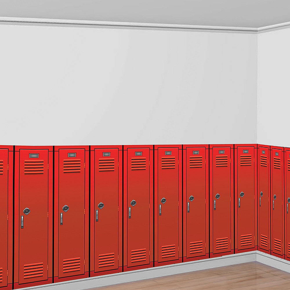 90s Red Lockers Room Roll Image #1