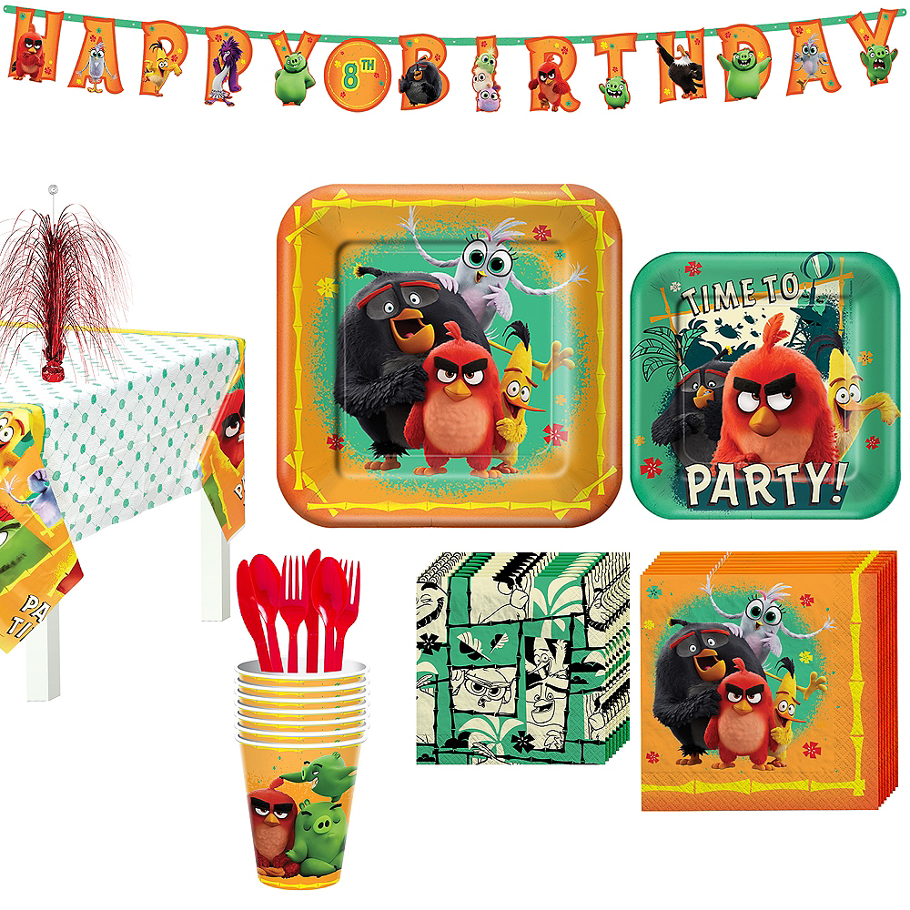 Angry Birds Tableware Kit for 8 Guests Image #1