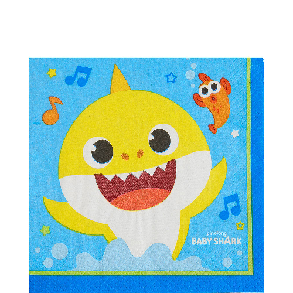 Baby Shark Birthday Party Tableware Kit for 24 Guests Image #5