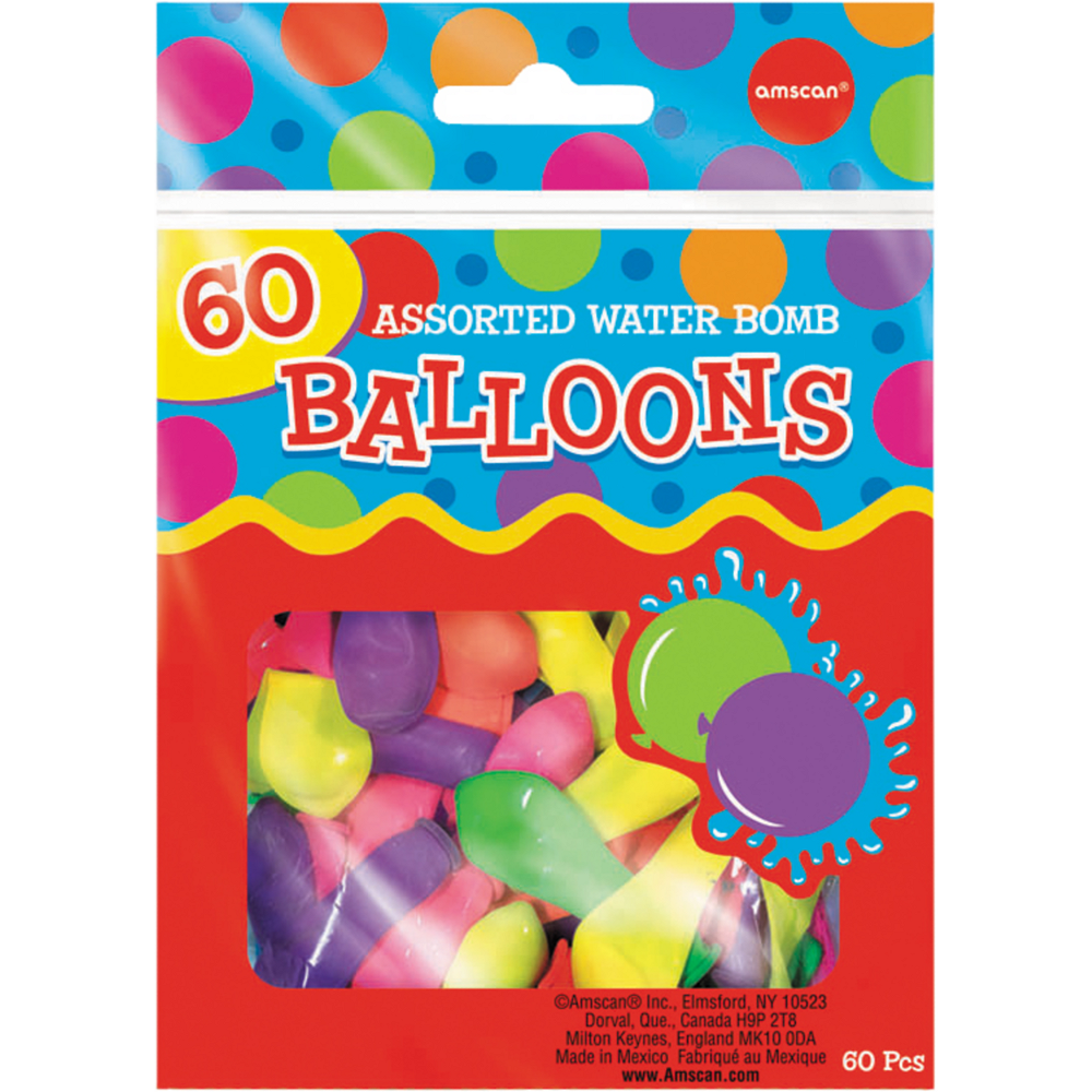 Assorted Color Water Bombs 60ct Image #1