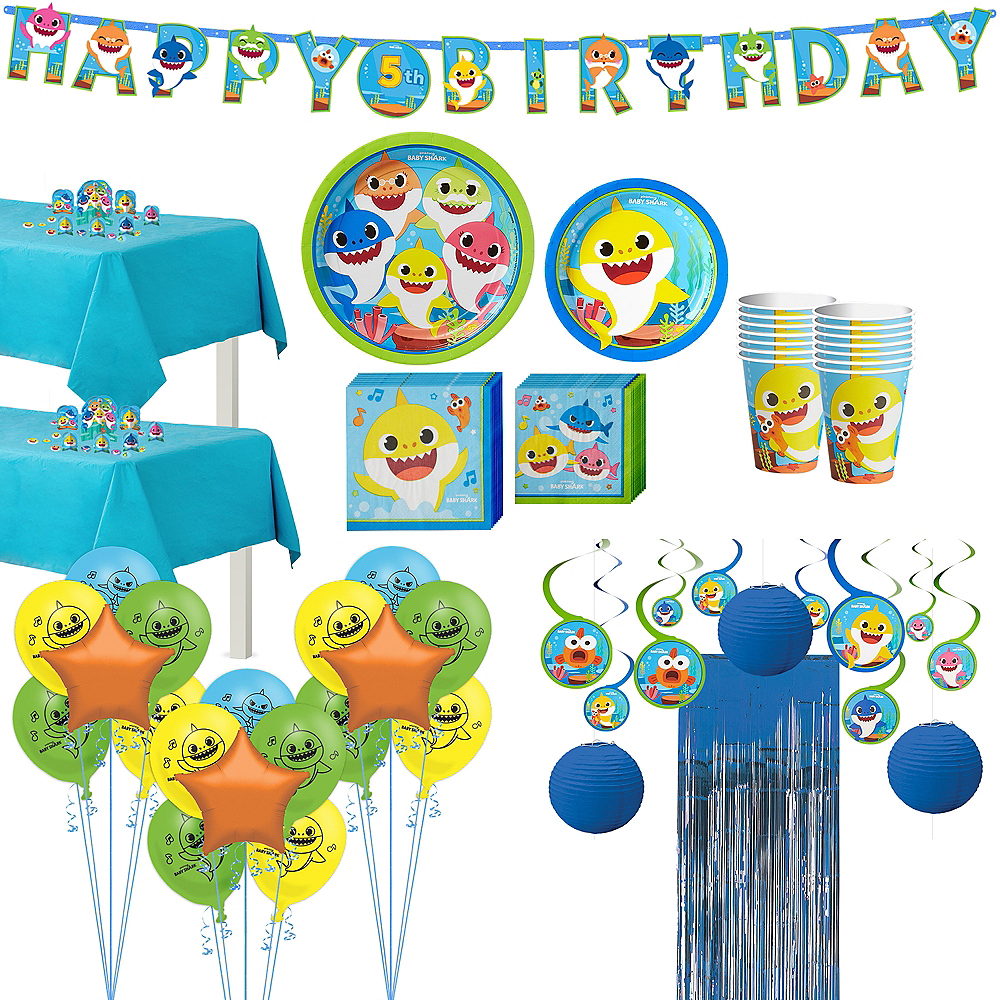 Baby Shark Ultimate Birthday Party Kit for 16 Guests Image #1